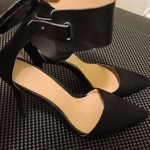 Shoes Sandals zara leather black stilleto like new